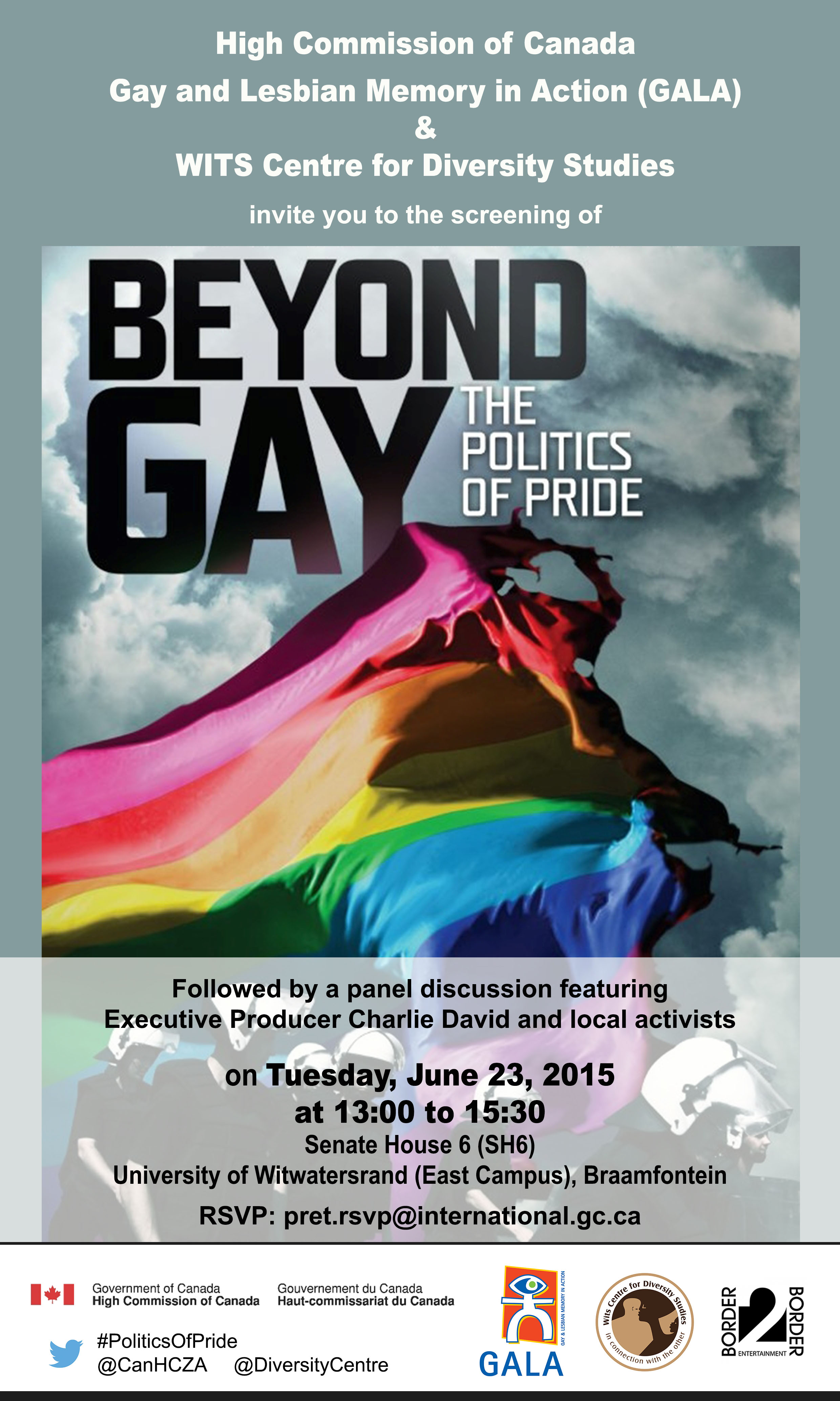 Invitation to screening and discussion Beyond Gay The Politics of Pride