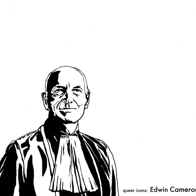 Justice Edwin Cameron steps down from the bench of the Constitutional Court