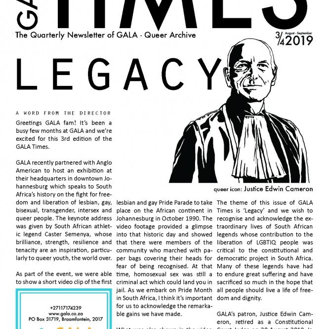 GALA Time: 2019 3/4 – Legacy