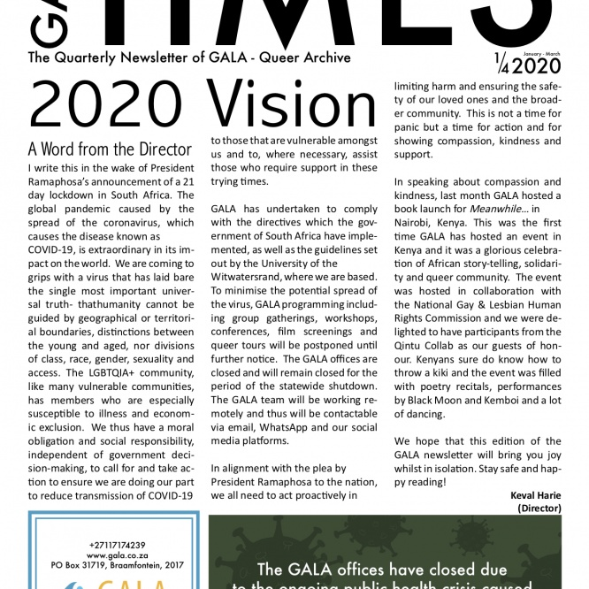 GALA Times: 2020 1/4 – 2020 Vision