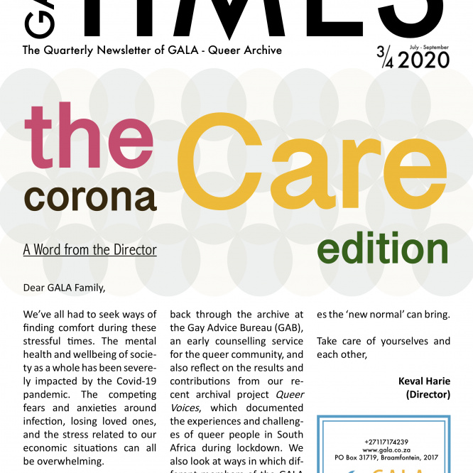 GALA Times: 2020 3/4 – The Corona Care edition